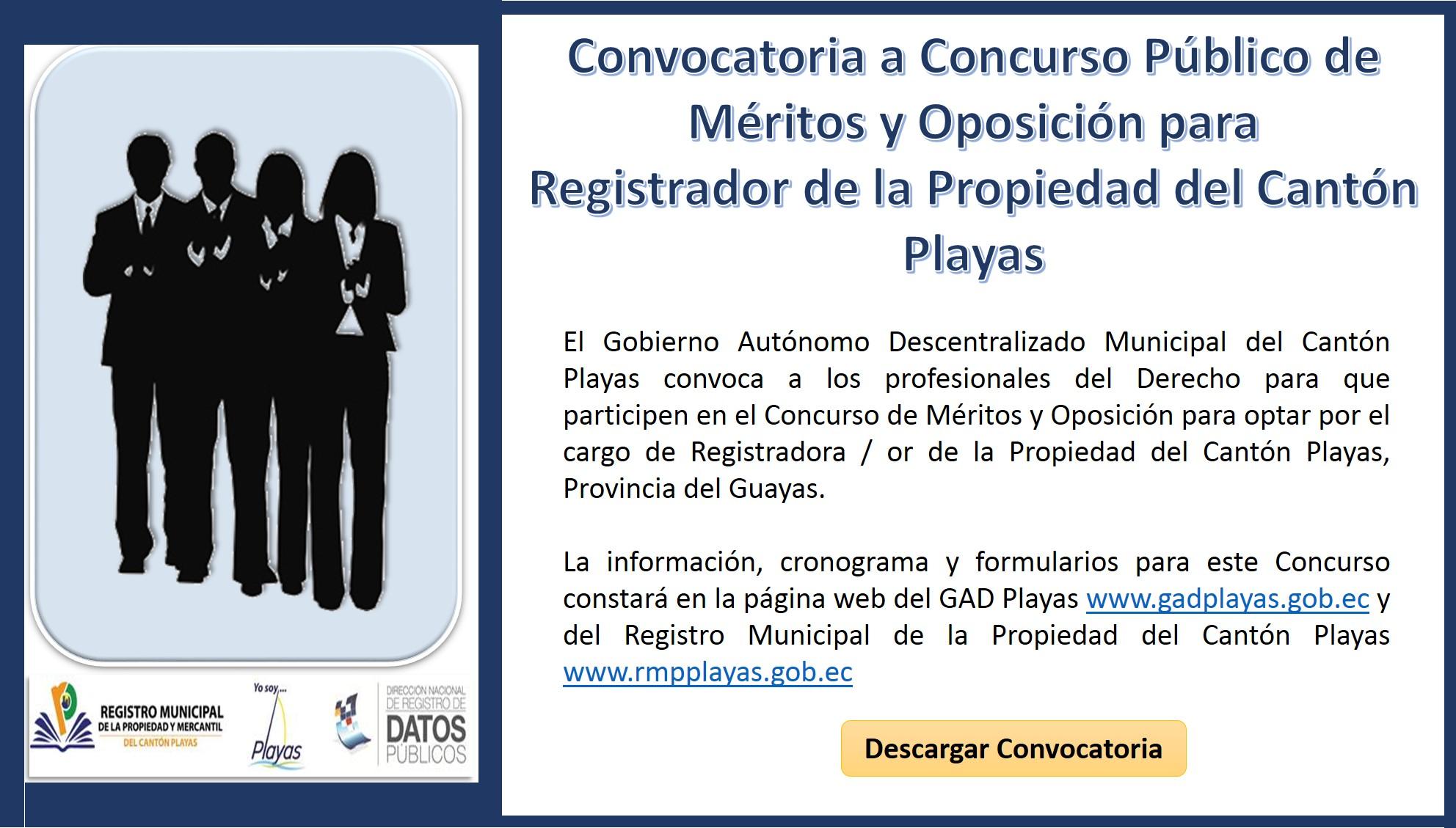 Concurso de m ritos y oposici n registrador de la for Convocatoria concurso de docentes 2016
