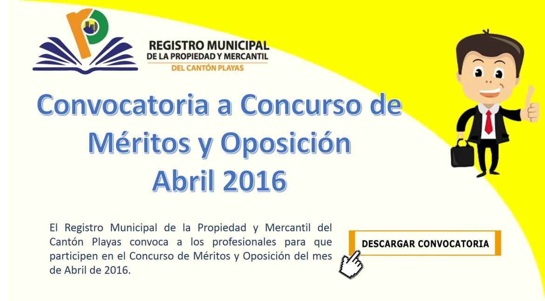 Concurso de m ritos y oposici n abril 2016 registro for Convocatoria concurso de docentes 2016